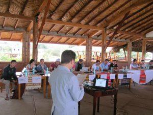 Dr. Natori delivering remarks
