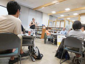 Ms. Anderson conducting the workshop on gender mainstreaming ©CI/Yoji Natori